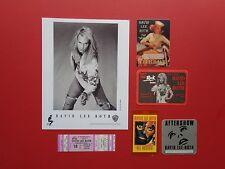David Lee Roth,Promo photo,4 Backstage passes,concert ticket,Rare Originals,