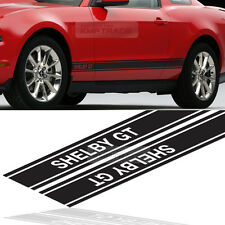 SHELBY GT Logo Door Stripe Graphics Decals Sticker 4Pcs For FORD 2005-14 Mustang