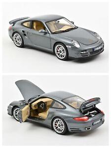 1/18 Norev Porsche 911 Turbo 2010 Grey Metallic Précommande Livraison Fin Octobr