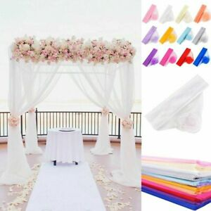 Marriage Yarn Tulle Roll Crystal Organza Fabric Event Party Decor Wedding Supply