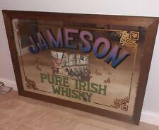 More details for vintage pub mirror jameson pure irish whisky , x large 89cm / 64cm rare 1970/80s