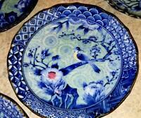 Antique Chinese Porcelain, Blue White Plate Dish, Bird Flower, Signed Xuan Chang