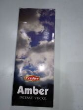 Tridev Amber Incense Sticks Agarbatti 6 Boxes ( 20  GM EACH)