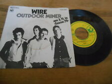 "7"" Punk Wire - Outdoor Miner / Practice Makes Perfect (2 Song) EMI HARVEST"