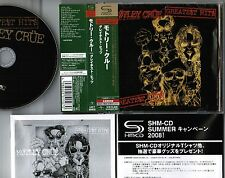MOTLEY CRUE Greatest Hits JAPAN SHM-CD UICY-90903 OBI+BOOKLET Audiophile FREE S
