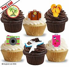 PRE-CUT TRAVEL ACCESSORIES EDIBLE WAFER PAPER CUP CAKE TOPPERS DECORATIONS