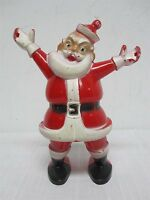 """VINTAGE HARD PLASTIC CHRISTMAS SANTA CLAUS CANDY CONTAINER 9"""""""