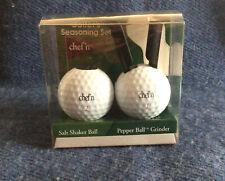 Golfers Seasoning Cruet Set Golf Ball Salt Shaker And Pepper Grinder