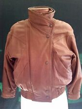 Mens 90s Vintage Wilson Leather Adventure Bound Bomber Jacket Mens XS Brown Zip