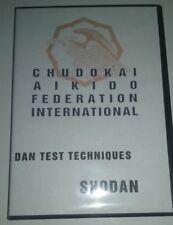 Chudokai Aikido Shodan Dan Test Techniques Dvd Black Belt Instruction Mma Karate