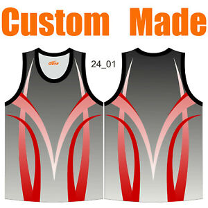 Customize Athletic Singlets Round Neck Gradient Colour Trainning Tank Top 24