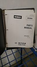 Kobelco Wheel Loader Parts  Manual LK300A