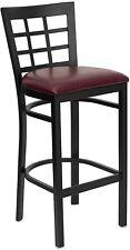 Flash Metal Restaurant Bar Stool, Black, Burgundy - XU-DG6R7BWIN-BAR-BURV-GG