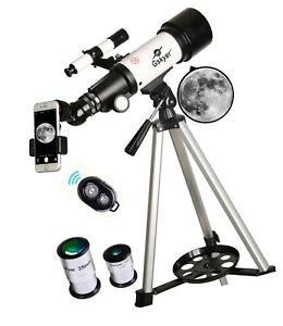 Gskyer Telescope, 70mm Aperture 400mm AZ Mount Astronomical Refracting Telesc...