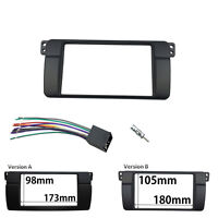 des2 Din Stereo Panel for BMW 3 Series E46 Radio Fascia Adaptor Wiring Kit Frame