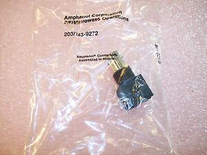 QTY (10) 31-5538-1010  AMPHENOL BNC PC MOUNT R/A BULK HEAD JACK 50 Ohm