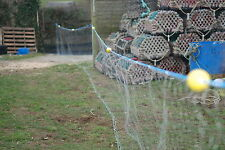 "FISHING NET/GILL NET/FLAT FISH  4.5"" /25ft long / 4 ft tall /all ready to go"