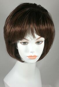 Golden Blonde layered bob style wig w/ Bangs - Neve