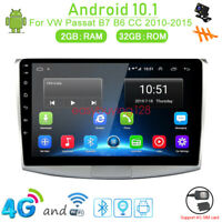 32GB Android 10.1 Car DVD GPS WIfi Radio Stereo Player For VW Passat B7 B6 CC