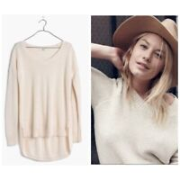 Madewell Cream Chronicle Texture Pullover Sweater Small
