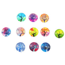 Noctilucent Glass Round Cabochon Cover Life Tree Jewelry Making Decor Crafts