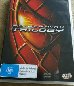 Spider Man 1 + 2 + 3 DVD Trilogy (3 DISC) AUST REG 4