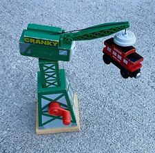 2012 Mattel Thomas Train Cranky the Crane Wooden & magnetic Sodor Line Caboose