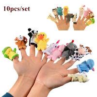 10pcs Cartoon Fingertip Animal Toys Cloth Dolls Puppets Developmental Baby Toy