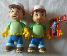 Rare Handy Manny Talking Disney Figures With Tools and Toolbox Mattel