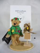 Deb Canham Mohair Teddy Bear The Organ Grinder Complete w/Monkey Tag & Box