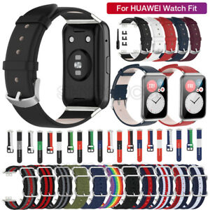 For Huawei Watch Fit (TIA-B09/TIA-B19) Leather Nylon Silicone Watch Band Strap