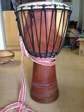 Professional Djembe from Guinea - high clear sound, new African Goat skin head