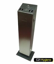 High Quality Tower Cigarette Bin - Stainless Steal, Weather Proof Metal- NEW