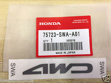Genuine OEM Honda CR-V 4WD 2007 - 2009 Decal Sticker 75723-SWA-A01 CRV