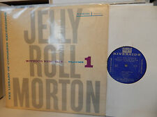 JELLY ROLL MORTON BOYHOOD MEMORIES Volume 1 1957 Riverside RLP 9001 DG EXC LP
