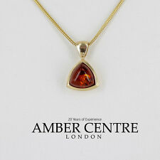 Italian Made Classic Elegant Baltic Amber Pendant in 9ct Gold -GP0057 RRP£190!!!