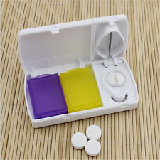 Pill Case Splitters Plastic Medicine Organizer Storage Box Tablet Cutter Slicer