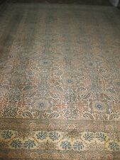 Antique genuine Kaschan wool carpet #2, 1910-1930, Extra Large 14x10.5 feet