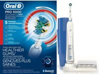 Oral-B Pro 5000 SmartSeries Bluetooth Rechargeable Toothbrush White OPEN BOX