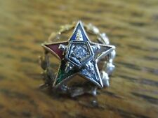 FIVE STAR FRATERNAL PIN 10 K GOLD TOP 4 PT DIAMOND - FREE SHIPPING WORLD WIDE