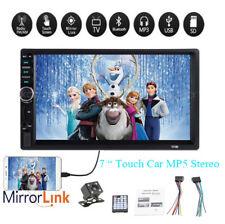 "7"" 2 DIN Autoradio Bluetooth Mirror Link Touch Screen MP5 Player Stéréo Camera"