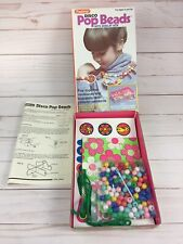 Vtg Rare 1979 Pastime Disco Pop Beads with Jewelry Box Complete 70s Kids Craft