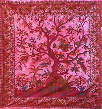 XL RED 100% cotton TREE OF LIFE SOFA KING DOUBLE BED SOFA COVER BEDSPREAD THROW