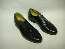 MICHAEL BRITTON MENS BLACK LEATHER SHOES OXFORDS SZ 8 M MADE IN PORTUGAL