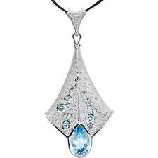 PLATINO Topacio Azul Collar