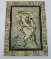 LARGE WILLIAM SYLVESTER CARTER PAINTING ABSTRACT EXPRESSIONISM MID CENTURY NUDE