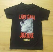 Adult Small Lady Gaga Horns 2017 Joanne World Tour Concert Black Graphic Shirt