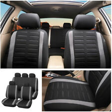 9PCS Full Set Car Seat Cover Front Rear Combo Protector 3MM Sponge & Polyester