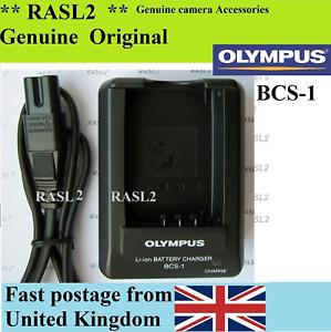 Genuine Olympus Charger BCS-1 PS-BLS1 E-PL1 E-P1 E-P2 E410 E420 E450 E600 E620