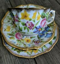More details for hammersley chintz queen anne trio cup and saucer and plate